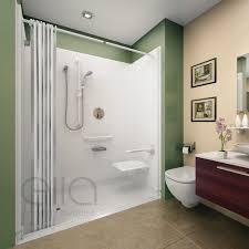wheelchair accessible roll in shower kits