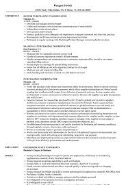 Purchasing Coordinator Resume Samples Velvet Jobs