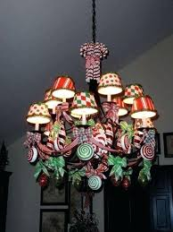 sweet and bright chandelier decorated with ribbon peppermint candy decorations ornaments always remember to decorate the