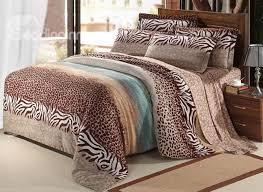 new arrival 100 cotton thick sanding leopard print 4 piece bedding sets duvet cover sets