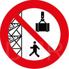 Prohibition Sign Do Not Pass Under Scaffolding Or Suspended Loads