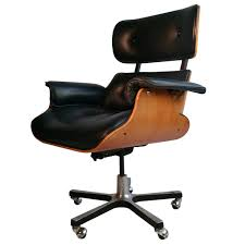 Image Soft Pad Modernist Eames Style Leather Desk Chair From Unique Collection Of Antique And Modern Office Pinterest Pin By Daria Koskorou On Home Decoration Desk Home Office
