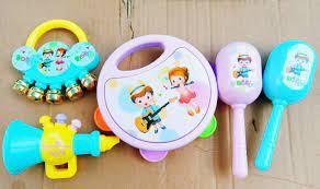 Bộ đồ chơi baby lục lạc kèn, trống cho bé.