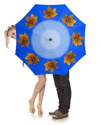 Зонт-трость с деревянной ручкой Кленовые листья #2228988 ...