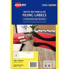 Avery Binder Label Avery 959036 L7172 Laser Label Ring Binder 18up White Pack 25