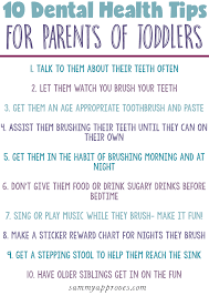 Health Tips Chart Amazing Dental Health Tips For Toddlers Give Kids A Smile