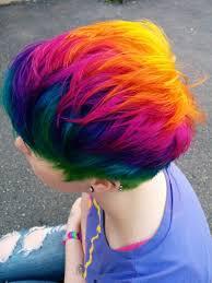 Rainbow Hair Rainbows Red Blue Green Orange Yellow Purple Pink