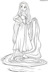 Tổng hợp các bức tranh tô màu công chúa tóc mây đẹp nhất