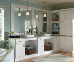 Image Marble White Bathroom Cabinets In Rainier Door Style Homecrest Cabinetry White Bathroom Cabinets Homecrest Cabinetry