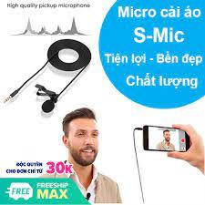Micro cài áo thu âm S-Micro loại tốt ghi âm, làm youtube với công nghệ giảm  ổn, giảm hú chất lượng giá rẻ 46.100₫
