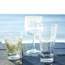 acrylic glassware sets hammered