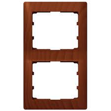 <b>Рамка</b> на <b>2 поста вертикальная</b>, вишня - 771976 Legrand