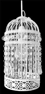 lantern birdcage light fitting white easy fit ceiling light shade
