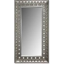 floor mirror. Antique Floor Mirror - Rubbed Black Floor Mirror
