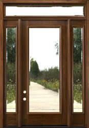 exterior door with sidelights and transom. sidelights \u0026 rectangular transom unit size \u003d 68 1/2\ exterior door with and g
