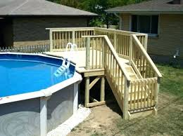 Above Ground Swimming Pool Deck Designs Impressive Design Inspiration