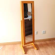 armoires safekeeper jewelry armoire birch jewelry safekeeper mirrored jewelry cabinet by lori greiner