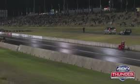 most bizarre race ever two pro bike drag racers had to run their