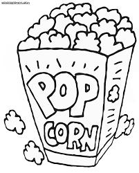 Bildresultat För Popcorn Coloring