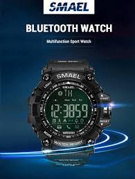 <b>SMAEL Digital Watch</b> Men Bluetooth Smart <b>Watch</b> Waterproof 50M ...