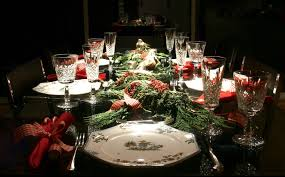 christmas centerpieces for dining room tables. Excellent Christmas Dining Table Centerpiece Decoration Ideas With Elegant Glasses And Red Napkins Centerpieces For Room Tables S