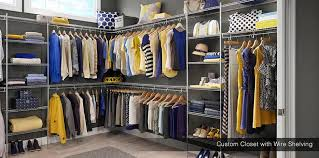 custom wire shelving custom walk in closet with wire shelving