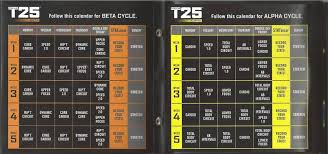 t25 workout exercises