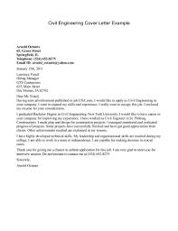 Sample Cover Letter For Job Application For Civil Engineering