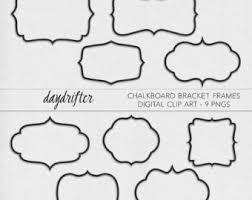 printable bracket frame. Instant Download Chalkboard Bracket Frames - Curly Photo Overlay Photography Printable Digital Clip Art PNGs Frame