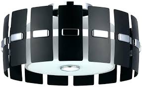 full size of jolie antique black drum shade crystal semi flush mount chandelier three light polished
