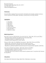 Accounting Officer Sample Resume