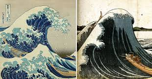 images reveal evolution of hokusai's 'great wave' through earlier versions