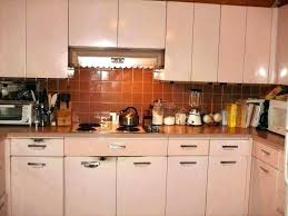 vintage metal kitchen cabinets uk painting with sink refinish cabinet retro refinishing old scenic re