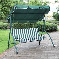 Adeco Green And White Stripes Canopy Awning Porch Swings Bench - Free  Shipping Today - Overstock.com - 17648586