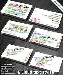 business cards with word cloud word tag business card photostockers graphicriver tag business