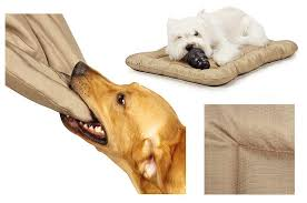 chew proof resistant dog bed washable