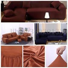 sectional sofa pet covers. 2+2 L Shape Stretch Elastic Fabric Sofa Cover Pet Dog Sectional Corner Couch USA Covers T