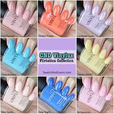 Cnd Vinylux Flirtation Collection Swatches Swatch And Learn