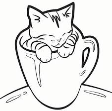 Small Picture Kitten coloring pages in a cup ColoringStar