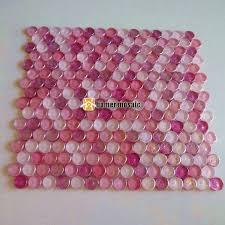 symphony mixed pink round crystal glass mosaic tiles hmgm1116a backsplash kitchen wall tile sticker bathroom floor tile