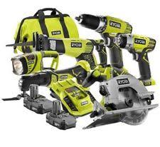 ryobi battery tools. ryobi zrp884 18v one plus lithium-ion ultimate 6 pc combo kit saw drill impact battery tools