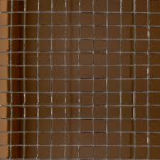 a square copper coloured mirror mosaic on a mesh netting there are 144 tiles per sheet and individual tile size is 25x25x4mm