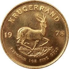 1 Oz South African Gold Krugerrand Random Dates