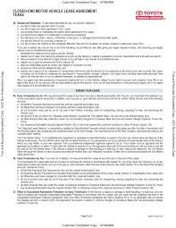 Lease Agreement Example Template Motor Vehicle Lease Agreement Template 10