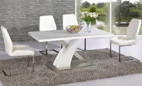 white gloss dining table and chairs mesmerizing ideas fabulous round with regard to remodel 14