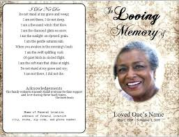 Memorial Pamphlet Funeral Pamphlet Template Template X Free