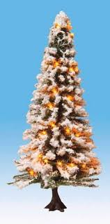noch snow covered christmas tree with