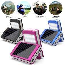 details about 50000mah dual usb portable solar battery charger diy bank for phones