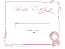40 Birth Certificate Templates Word PDF Template Lab Inspiration Blank Birth Certificate Images