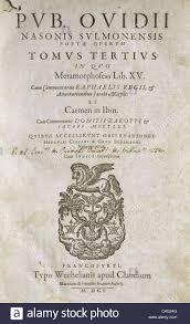 Publius Ovidius Naso 43 Bc 1718 Ac Als Ovid Bekannt